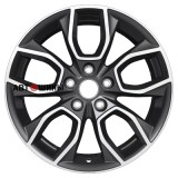 Диск Khomen Wheels U-Spoke 713 (17 ZV Sportage) 7*17 5*114.3 ET48.5 67.1 black-fp
