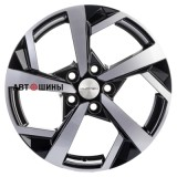 Диск Khomen Wheels KHW1712 (i40) 7*17 5*114.3 ET45 67.1 black-fp