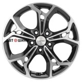 Диск Khomen Wheels KHW1702 (CX-5/Seltos) 7*17 5*114.3 ET50 67.1 black-fp